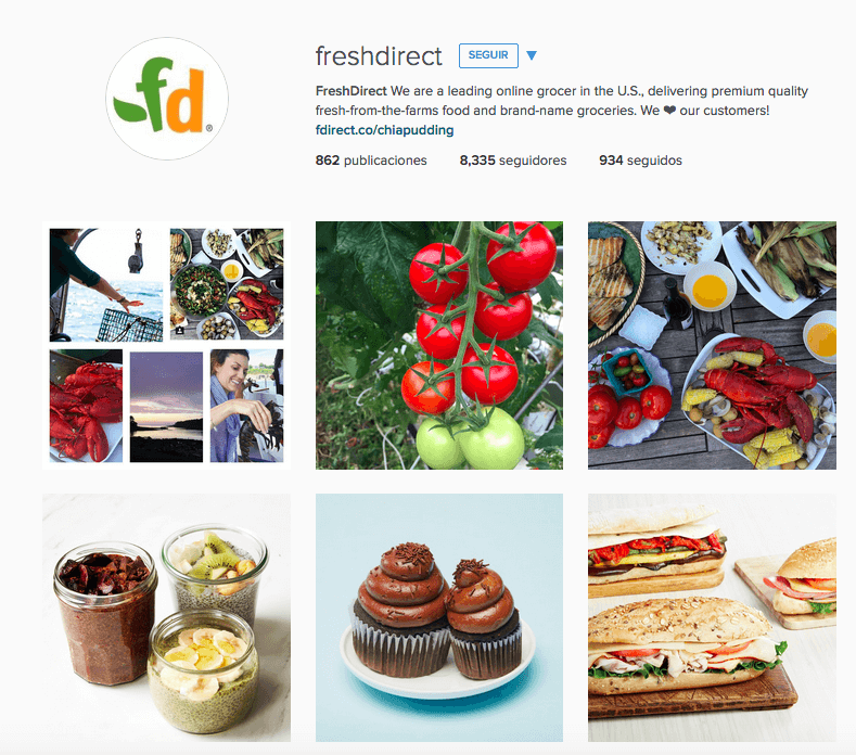 Fresh Direct Instagram