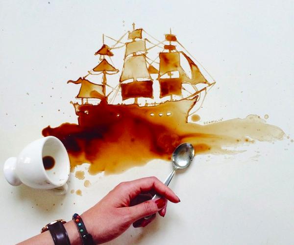 ¿Arte con posos de café? Yes, please